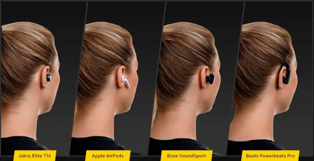 The Jabra Elite 75t offers a pretty secure fit, but only the security is only as good as the fit you get since they don't feature clips or hooks for added insurance.