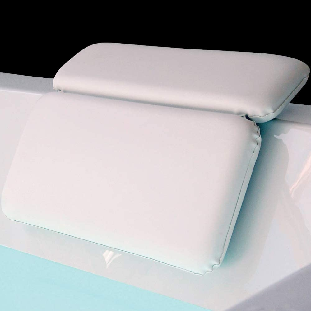 The comfort level of this pillow is wonderful. It supports your neck, shoulders and even your back. So, so slip this in to the bath after you have had a long day of manual labor or, if you're like me, and you sit behind a desk all day.