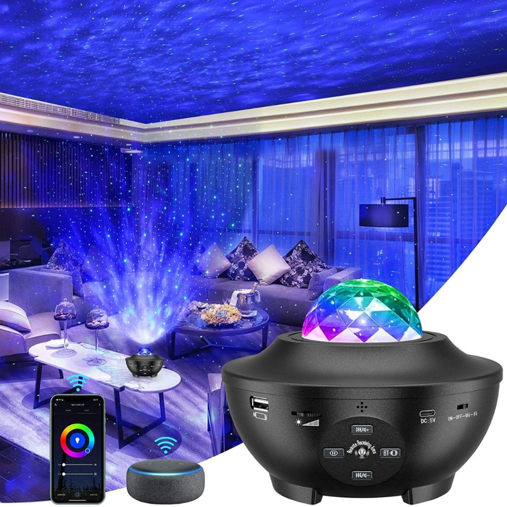 This product projects a beautiful galaxy throughout your entire bedroom in any color you can imagine.