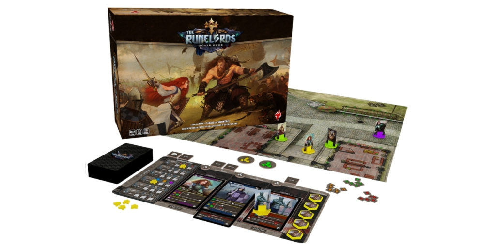 """The Runelords game is a hybrid gaming experience for 1-4 players to indulge in. An optional game mode, the """"sovereignty"""" mode is a preparation stage for players to buy and ready up their army before the various dangerous encounters that they will face throughout the game."""