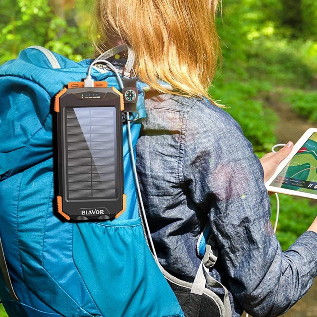 If you frequently engage in outside activities like camping or hiking, then there's no travel companion quite like the BLAVOR Solar Portable Charger.