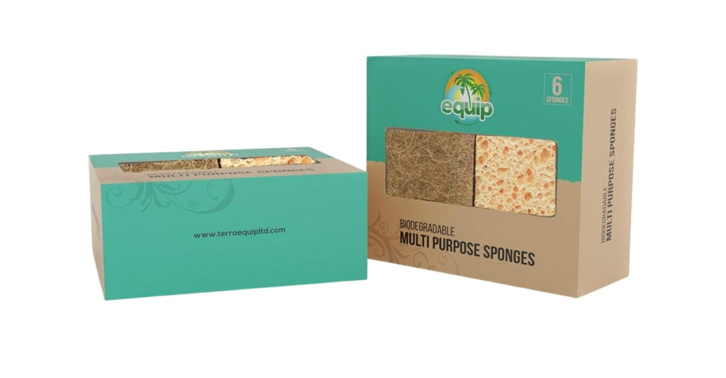 These eco friendly coconut sponges are made from plant fibers and coconut, they are 100% biodegradable and can be composted with ease.