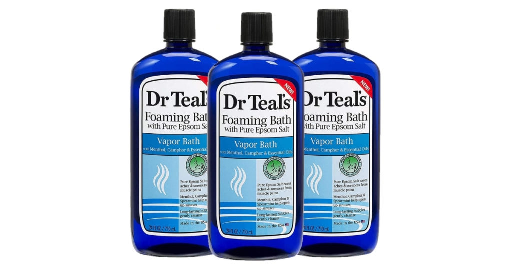 This bubble bath is amazing and opens up your sinuses and helps relieve all of those achy muscles caused by you being sick. You'll feel like you are at a spa rather than an infirmary.