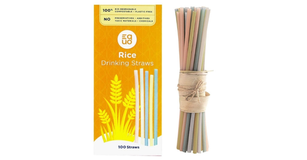 The Equo rice straw is sturdy and also... edible! Yes, that's right. Not only do they last 3-4 hours in your drink, they're 100% edible. Meaning, after you use it, you can rinse it and cook it down into congee!