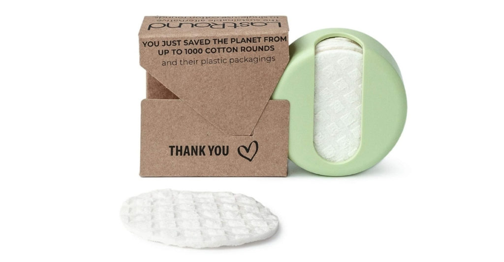 Use these sustainable LastRound cotton rounds for putting on makeup, applying toner, or washing your face. The rounds are made of shape-shifting fabric that just glides over your skin without absorbing all the liquid from your makeup.