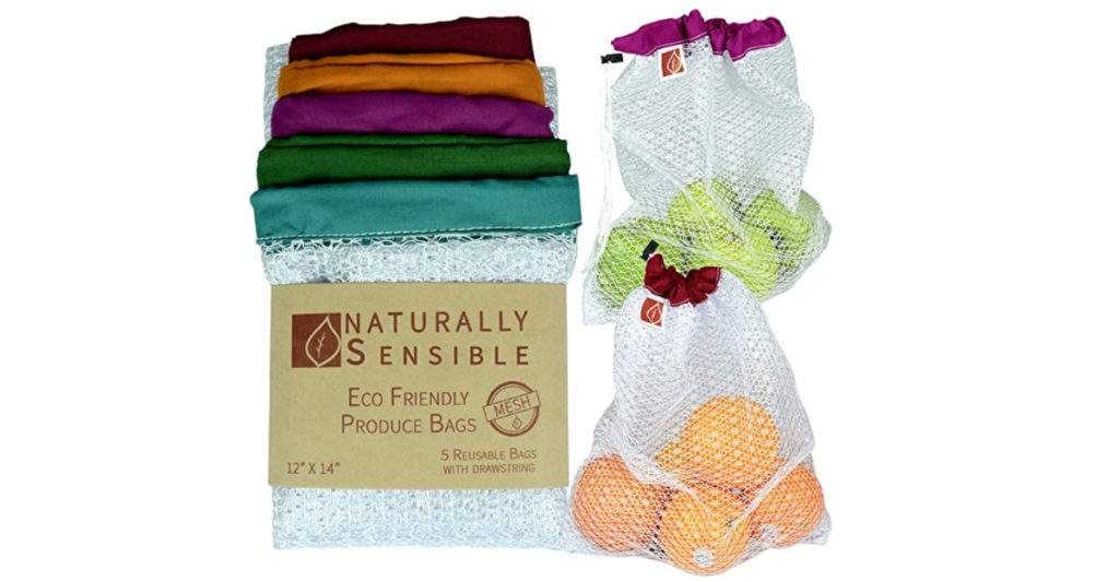 These drawstring mesh produce bags are perfect for doing your groceries without the struggle. At 12 x 14 inches, they are generously sized and you just need to toss em' in the washing machine to clean.