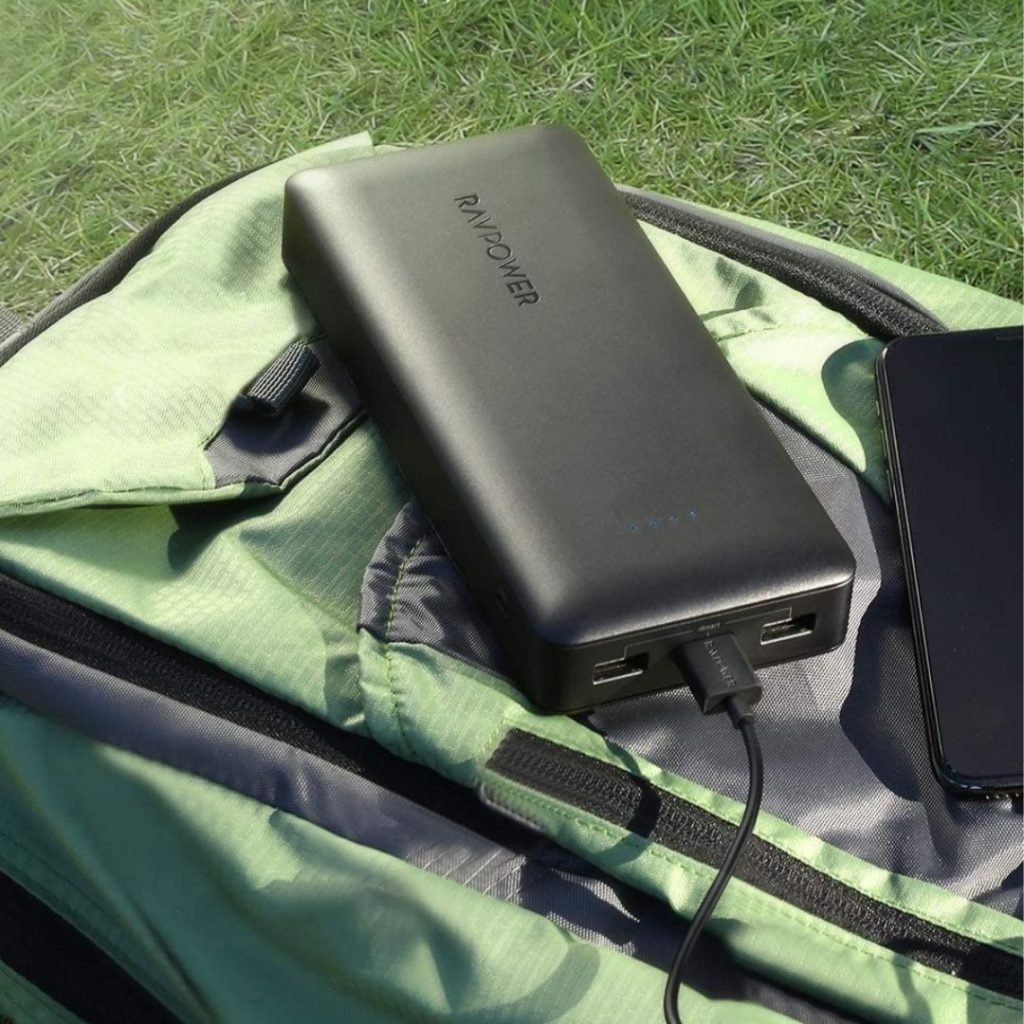 The RAVPower Portable Charger powers your devices and barely breaks a sweat. Sure, it's a fatty with no desire for a beach body, but it can charge phones up to 6 times and tablets up to 4 times.