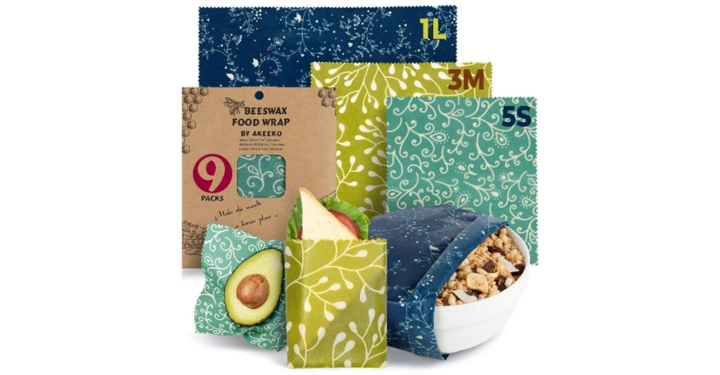 I am a huge fan of these environment friendly, sustainable and reusable beeswax wraps. Why? They keep food fresher longer and they're sturdy and cute. You can wash them to use them again and again.