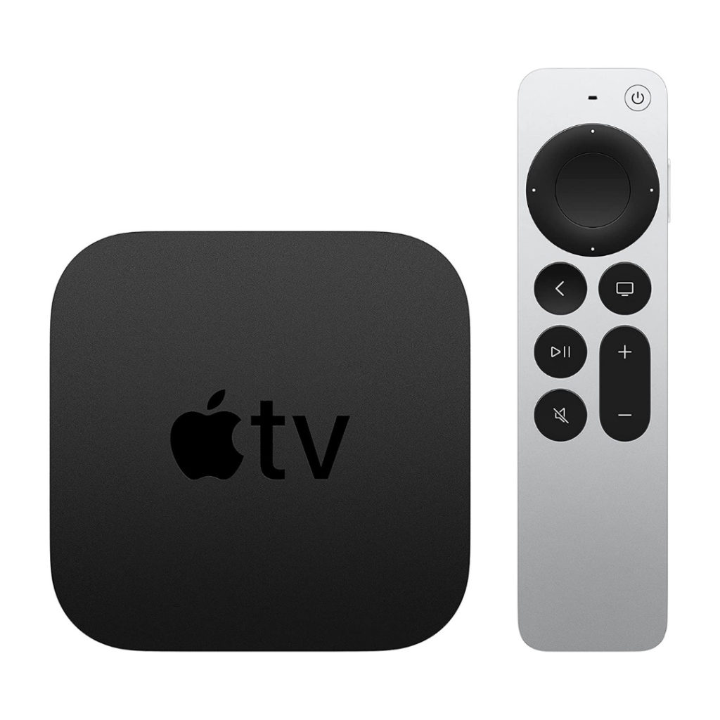 The Apple TV 4K—a bit pricy, sure, but it can still be cheaper than cable! Just imagine—you, your iPhone, your MacBook, and your iPad, all primed and ready to resume The Office from exactly where you left off.