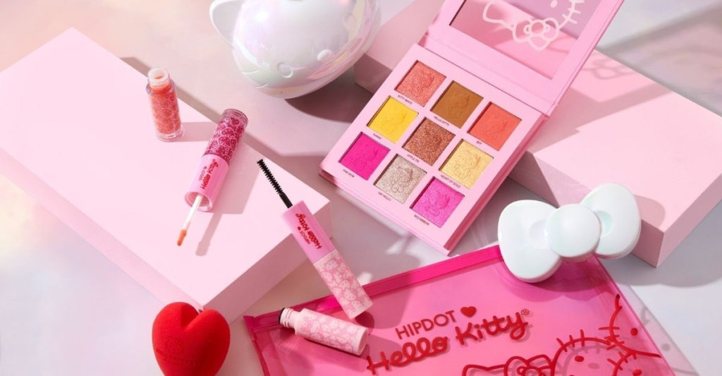 Hello Kitty launched their own cruelty-free and vegan makeup line in collaboration with HipDot. And just to be expected, there's no shortage of pink in their lip gloss, mascaras, and eyeshadow palette.