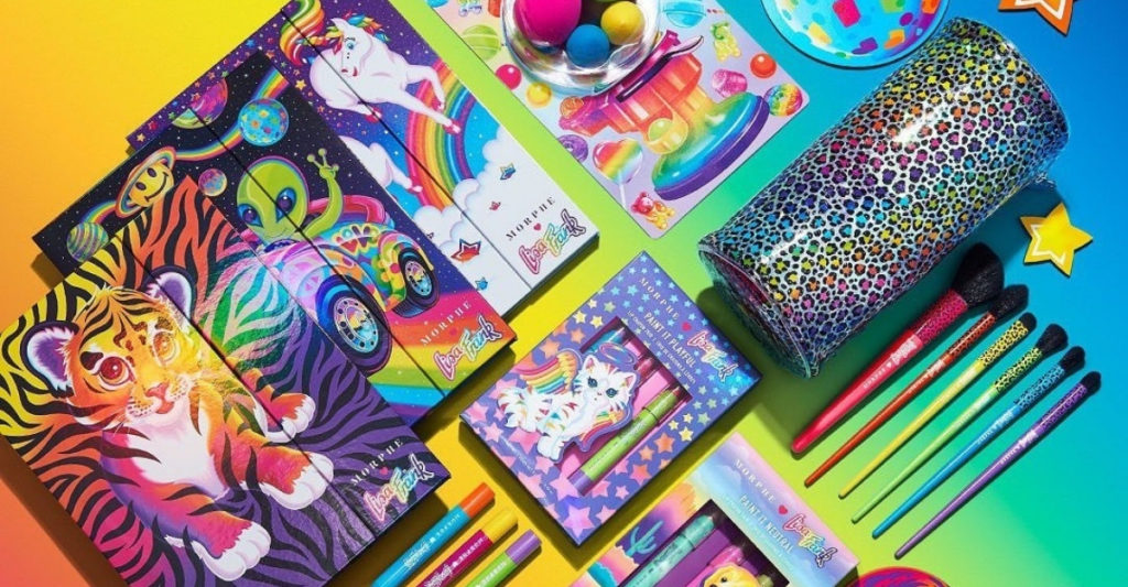 If you were like me in middle school, a Lisa Frank walking advertisement, then you'll be super pleased to know you can find her nostalgic prints at Morphe as cruelty-free and vegan makeup, from lip crayons to eyeshadows. They even have a brush bag that looks like a pencil case.
