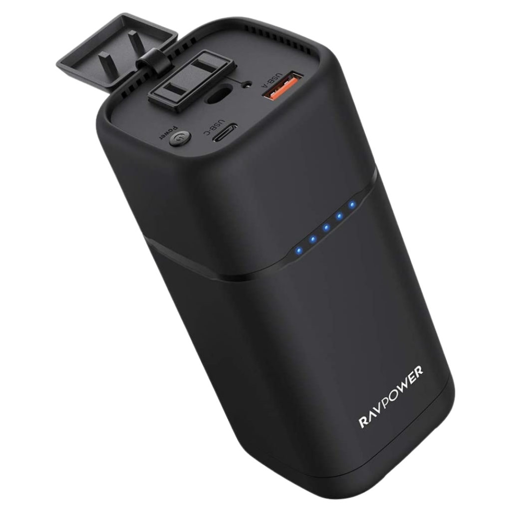 The RAVPower 80W Power Bans lets you travel lightly without sacrificing too much power. The charger may be small, but its battery still throws a mighty fat punch, able to keep MacBooks and iPads awake as you buzzle through a day's work on the go.